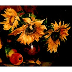 Nature morte avec tournesol